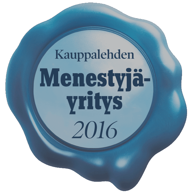 Kauppalehden Menestysyrittäjä 2016