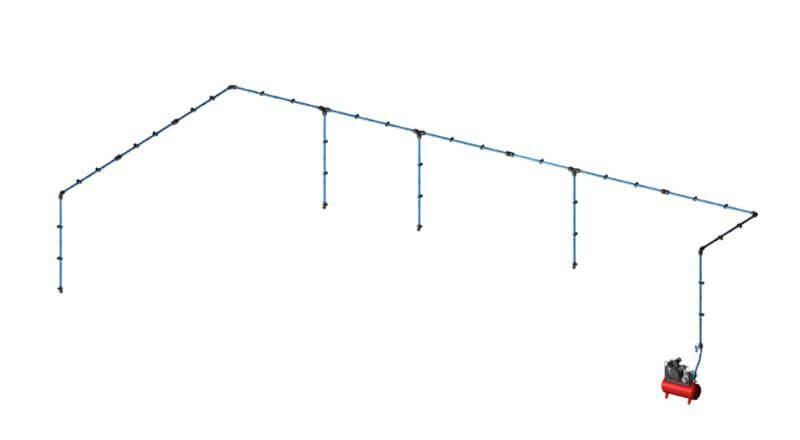 Aircom Quick Line Kit paineilmaputkistopaketti 20mm