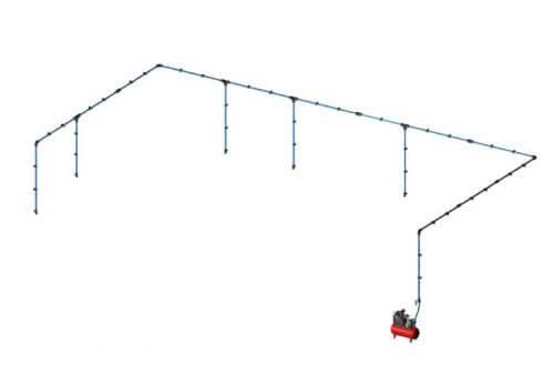 Aircom Quick Line Kit paineilmaputkistopaketti 25mm