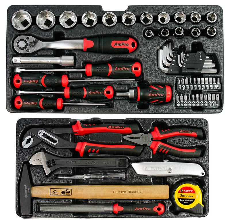 AmPro Työkalupakki työkaluilla 1/2 68-os.