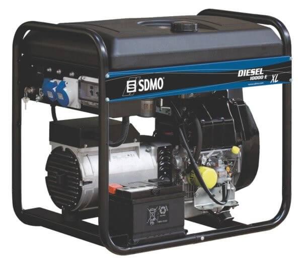 SDMO DX 10000 E XL C 1-vaihe dieselaggregaatti - Kailatec Oy Verkkokauppa