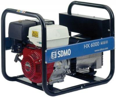 SDMO HX 6000 1-vaihe bensiiniaggregaatti