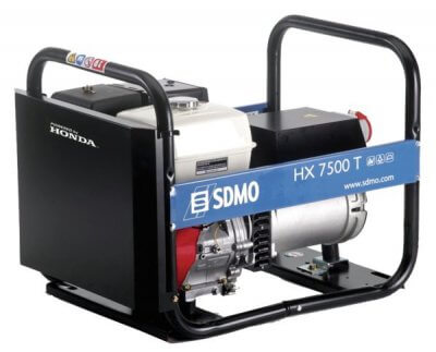 SDMO HX 7500 T 3-vaihe bensiiniaggregaatti