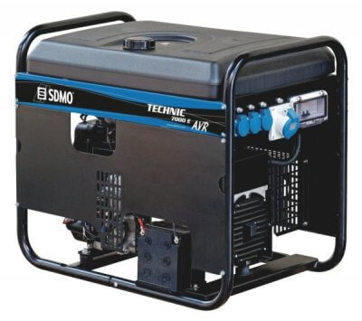 SDMO Technic 7000 E AVR C 1-vaihe bensiiniaggregaatti