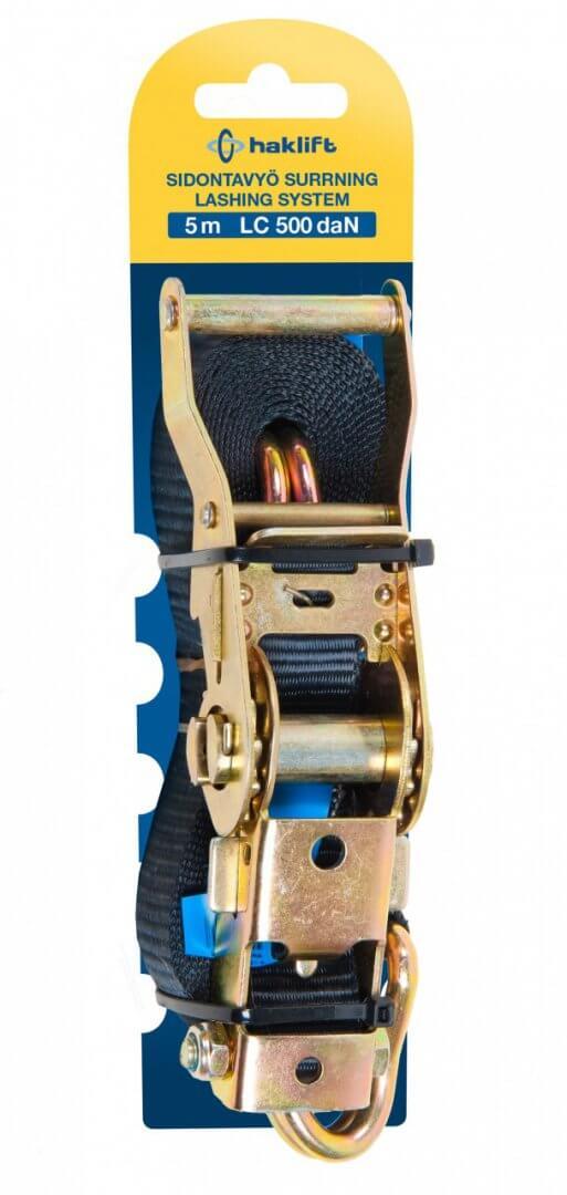 SV100052 Rataslukkovyö 1000kg/5m/2-os./pussissa
